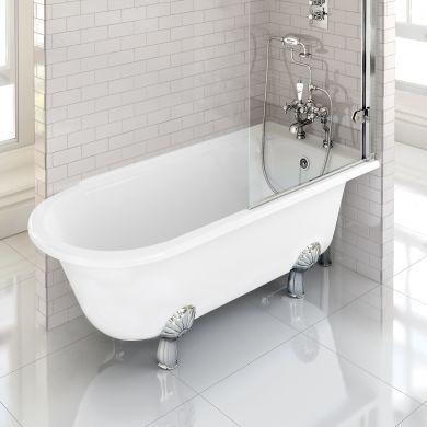 Burlington Hampton 1700x750mm Right Handed Shower Bath