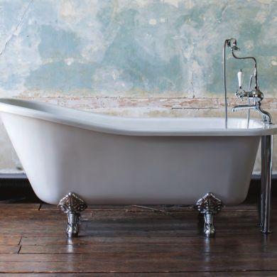 Burlington Harewood Slipper Bath 1700x730mm