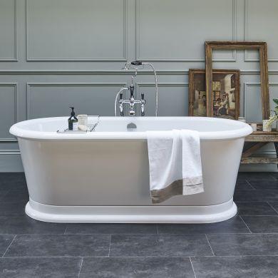 Burlington London Round Double Ended Bath 1800x850mm