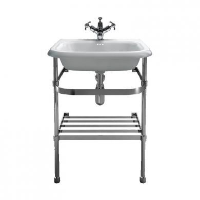 Burlington Natural Stone 550mm Basin With Stainless Steel Basin Stand