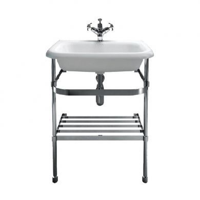 Burlington Natural Stone 650mm Basin With Stainless Steel Basin Stand