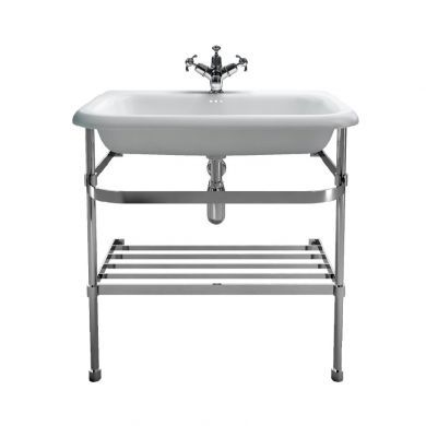 Burlington Natural Stone 750mm Basin With Stainless Steel Basin Stand