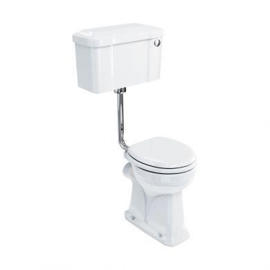 Burlington Regal Low Level Toilet With 520 Button Flush Cistern