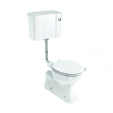 Burlington S Trap Low Level Toilet With 520 Button Flush Cistern