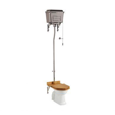 Burlington Standard High Level Toilet With 430 Chrome Chain Flush Cistern