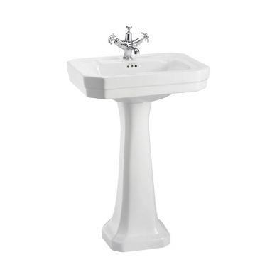 Burlington Victorian 560mm Basin White Regal White Pedestal