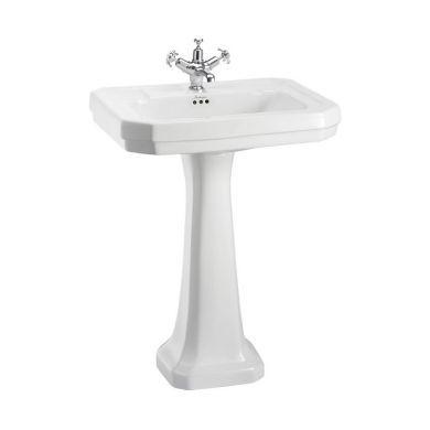 Burlington Victorian 610mm Basin White Regal White Pedestal