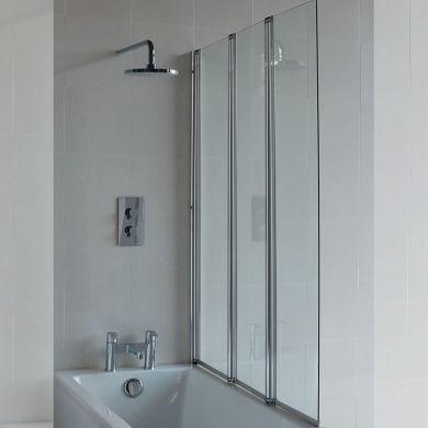 Britton Cleargreen 1450x1180mm Three-Panel Bath Screen