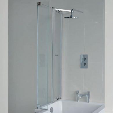 Britton Cleargreen 1450x180mm Ecosquare Left Hand Bath Screen With Access Panel
