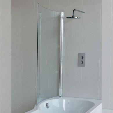 Britton Cleargreen 1450x820mm Ecoround Bath Screen