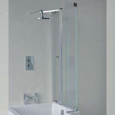Britton Cleargreen 1450x820mm Ecosquare Right Hand Bath Screen With Access Panel