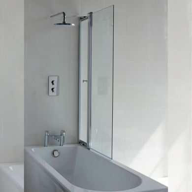 Britton Cleargreen 1450x850mm Bath Screen With Access Panel