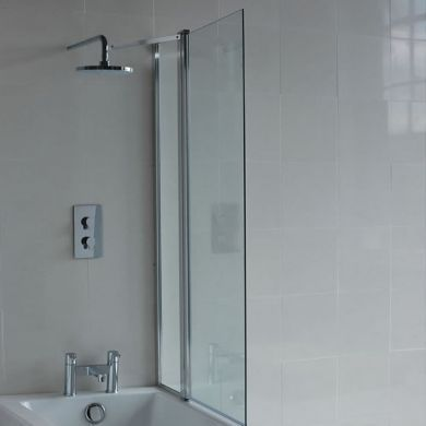 Britton Cleargreen 1450x850mm Bath Screen With Fixed Panel