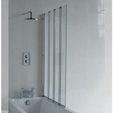 Britton Cleargreen 1450x880mm Four-Panel Bath Screen