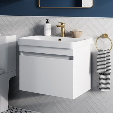 Britton Dalston 600mm Single Drawer Vanity Unit With Basin