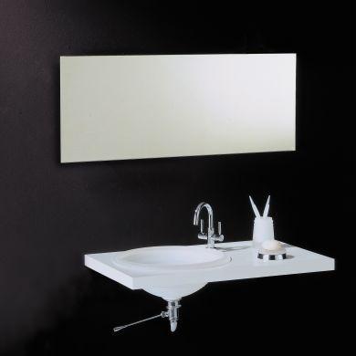 Bathroom Origins Slim 50 Rectangular Mirror - 500x1000mm