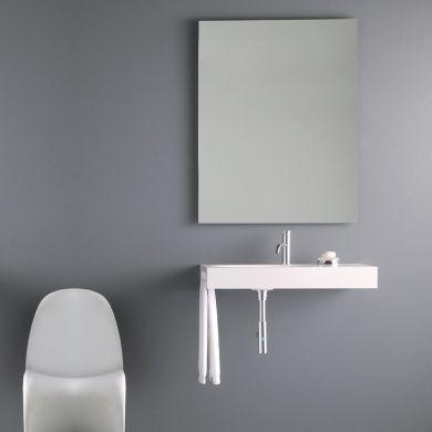 Bathroom Origins Slim 60 Rectangular Mirror - 600X1000mm - Main Image
