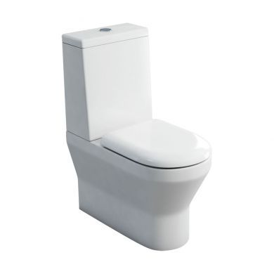 Britton Curve Close Coupled Back To Wall WC With Standard Lid Cistern