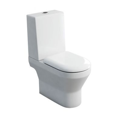 Britton Curve Close Coupled Open Back WC With Standard Lid Cistern