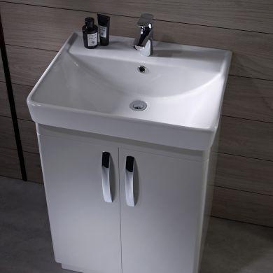Tavistock Compass 800mm Freestanding Vanity Unit With Ceramic Basin