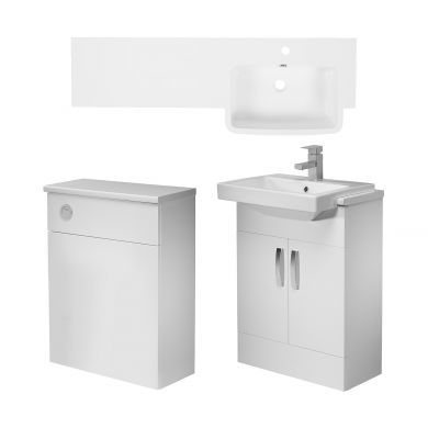 Tavistock Courier 1200mm Right Handed Semi Countertop Vanity Unit and Back To Wall Unit