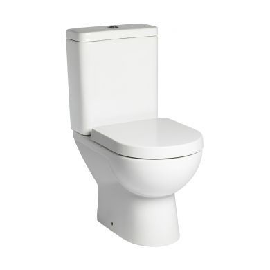 Tavistock Ion Open Back Close Coupled Toilet With Cistern and Wrap Over Seat