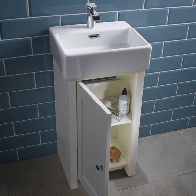 Tavistock Lansdown 400mm Cloakroom Vanity Unit With Ceramic Basin