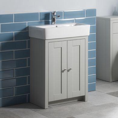 Tavistock Lansdown 550mm Freestanding Vanity Unit With Ceramic Basin