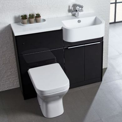 Tavistock Match 1000mm Right Handed Semi Countertop Vanity Unit and Back To Wall Unit