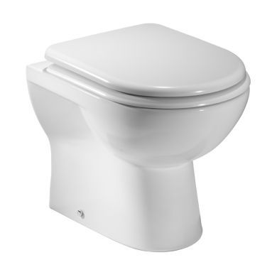 Tavistock Micra Comfort Height Back To Wall Toilet With Seat