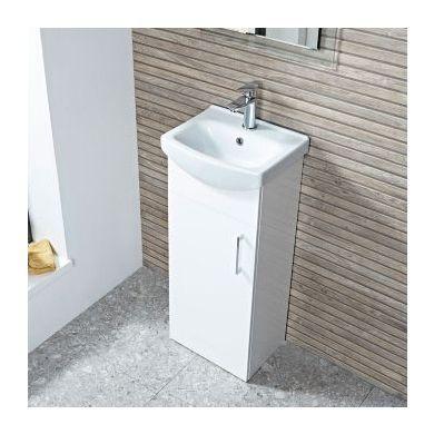 Tavistock Opal 400mm Freestanding Vanity Unit With Ceramic Basin