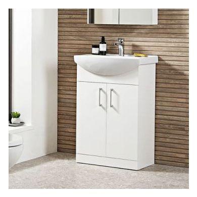 Tavistock Opal 500mm Freestanding Vanity Unit With Ceramic Basin