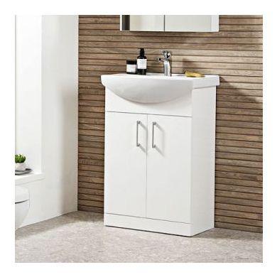 Tavistock Opal 600mm Freestanding Vanity Unit With Ceramic Basin