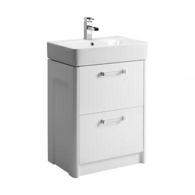 Tavistock Q60 570mm Freestanding Vanity Unit With Ceramic Basin