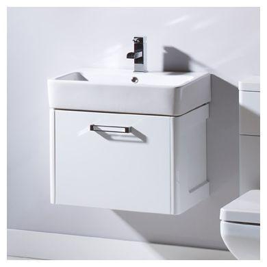 Tavistock Q60 570mm Wall Mounted Vanity Unit With Ceramic Basin