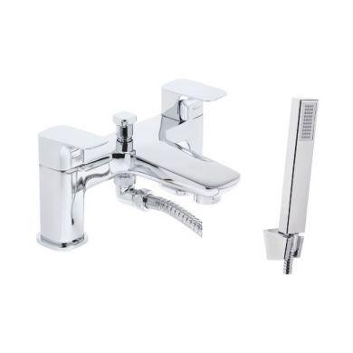 Tavistock Signal Deck Mounted Bath Shower Mixer With Handset