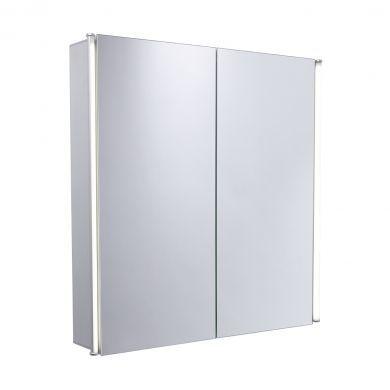 Tavistock Sleek 650mm Double Door LED Illuminated Cabinet