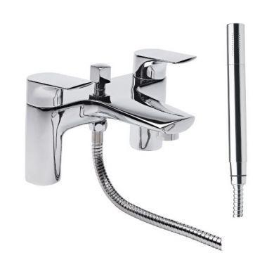 Tavistock Strike Deck Mounted Bath Shower Mixer With Handset