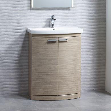 Tavistock Tempo 650mm Freestanding Vanity Unit With Ceramic Basin