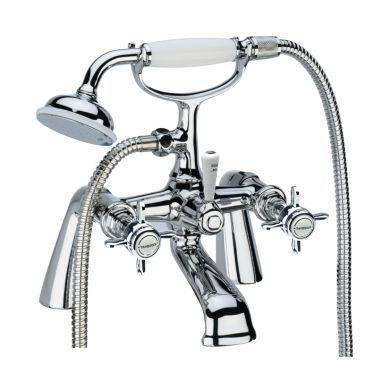 Tavistock Varsity Deck Mounted Bath Shower Mixer With Handset