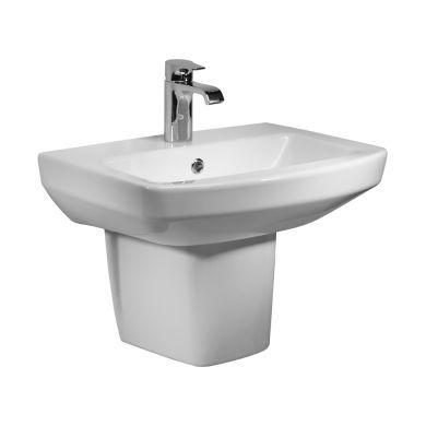 Tavistock Vibe 550mm Basin and Semi Pedestal
