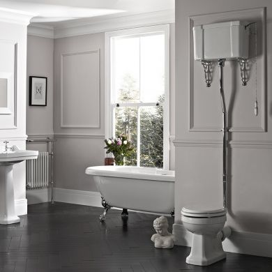 Tavistock Vitoria High Level Toilet With Cistern and Fittings