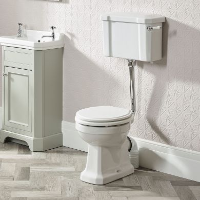 Tavistock Vitoria Low Level Toilet With Cistern and Fittings