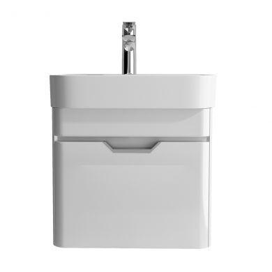 Tissino Loretto 48cm 1 Drawer Wall Mounted Basin Unit - Gloss White