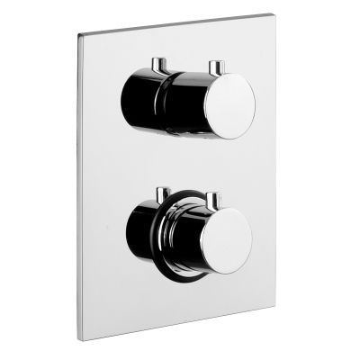 Tissino Parina 2 Outlet Dual Handle Thermostatic Shower Valve With Diverter