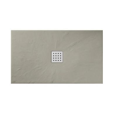 Doccia Basalto Natural Stone/Slate Effect Shower Tray Musgo Brown - 1000x700mm