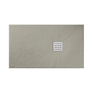 Doccia Basalto Natural Stone/Slate Effect Shower Tray Musgo Brown - 1200x700mm