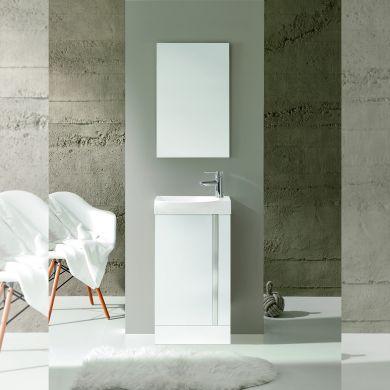 Frontline Royo Elegance 445mm Floor Standing Vanity Unit and Mirror