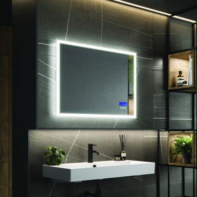 HiB Globe Plus 80 Steam Free Mirror With LED Ambient Lighting - 600x800mm