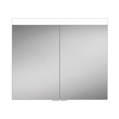 HiB Apex 100 Double Door LED Illuminated Mirrored Cabinet - 1000x750mm